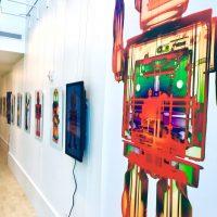 gallery wall big robot