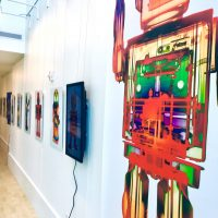 gallery wall big robot